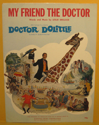 My Friend The Doctor - 1967 Sheet Music Doctor Dolittle