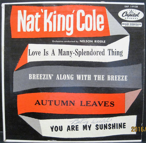 Nat 'King' Cole - Love Is A Many Splendored Thing EP