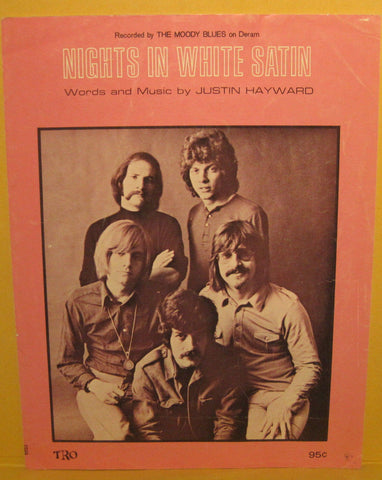Nights in White Satin - 1968 Sheet Music - The Moody Blues