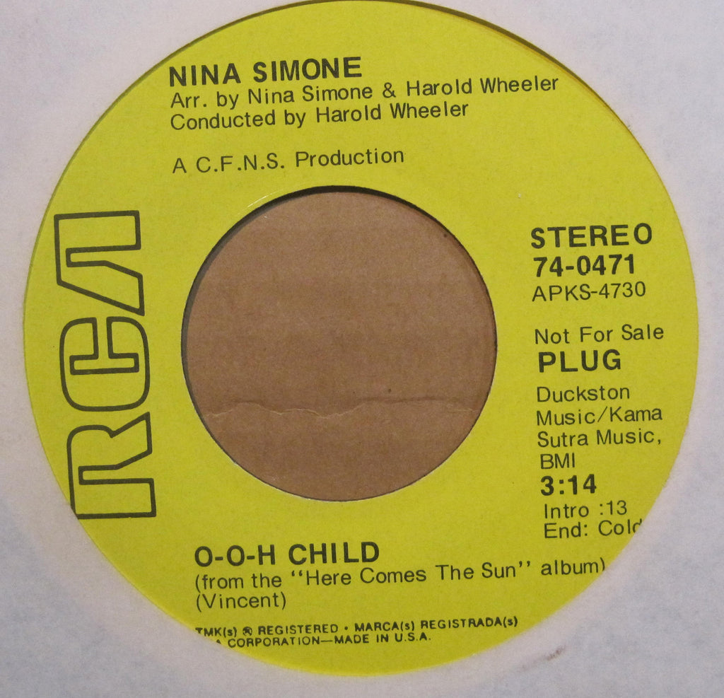 Nina Simone - O-O-H Child b/w New World Coming Promo