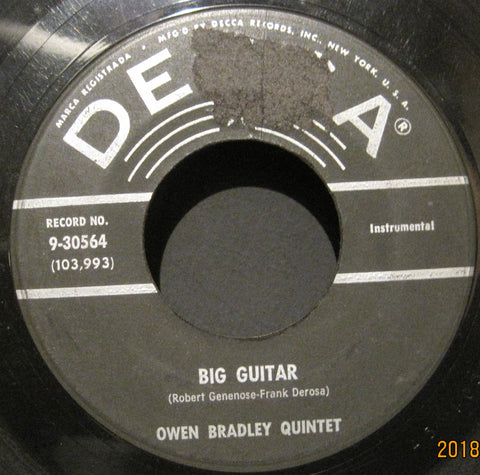 Owen Bradley Quintet - Big Guitar b/w Sentimental Dream