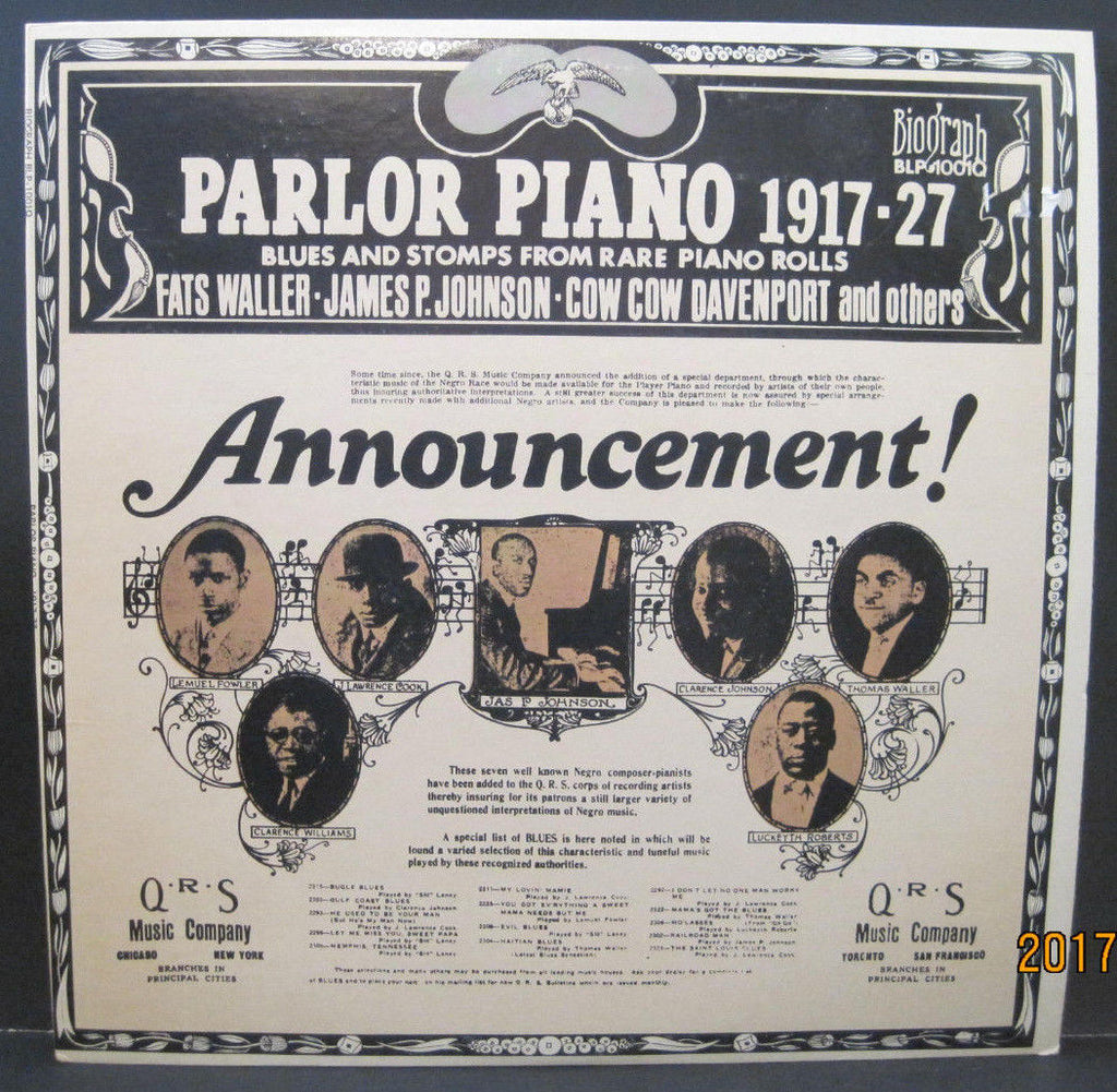 Various Artists - Parlor Piano 1917-27