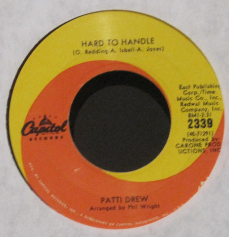 Patti Drew - Hard To Handle b/w Just Can't Forget About You