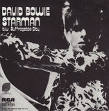 David Bowie - Starman / Suffragette City w/ PS import on deep blue vinyl