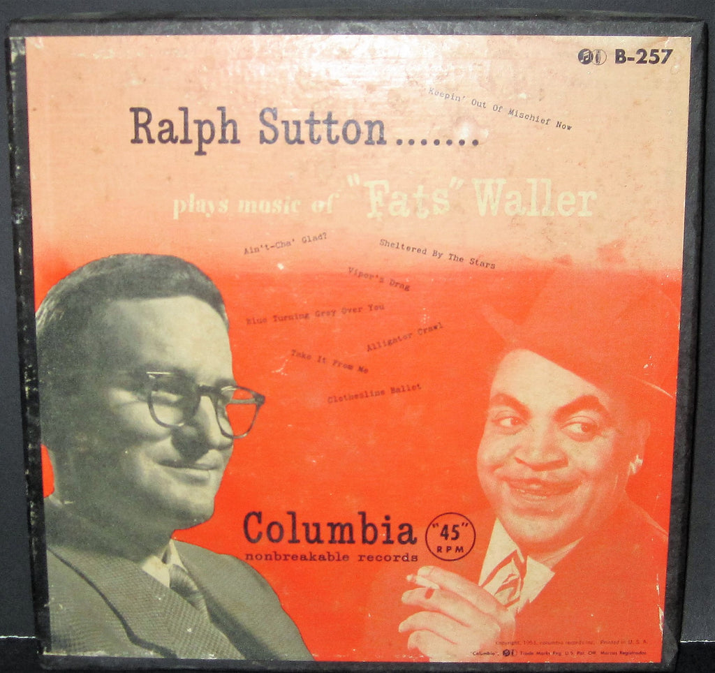 Ralph Sutton Plays The Music of Fats Waller (45rpm Box Set)