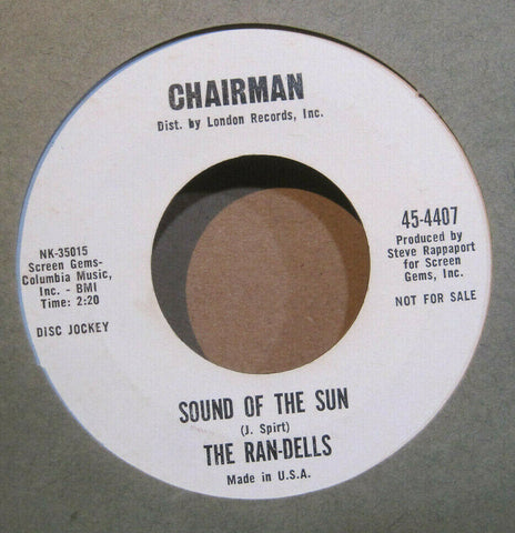 Ran-Dells - Sound of The Sun b/w Come On And Love Me Too