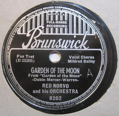 Red Norvo with Mildred Bailey - Jump Jump's Here b/w Garden of The Moon