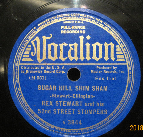 Rex Stewart and His 52nd Street Stompers - Sugar Hill Shim Sham b/w Love in my Heart