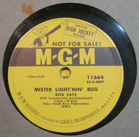 Rita Faye - I'm A Problem Child b/w Mister Light'nin' Bug