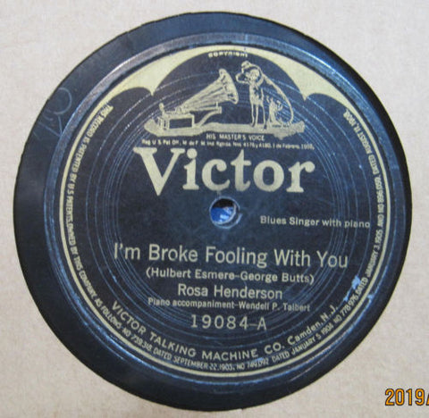 Rosa Henderson - I'm Broke Fooling with You b/w Good Woman's Blues
