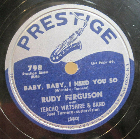 Rudy Ferguson - Baby, Baby, I Need You So b/w Cool Goofin'