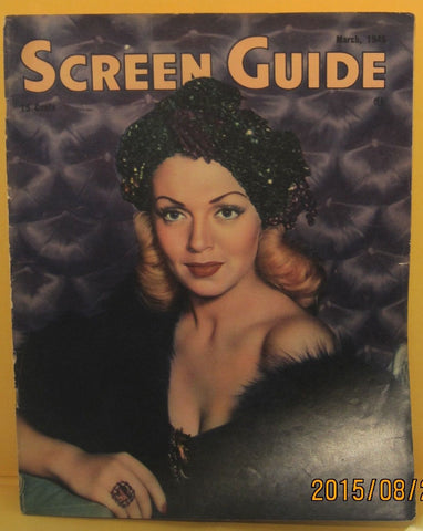 Screen Guide Magazine 1945 Lana Turner