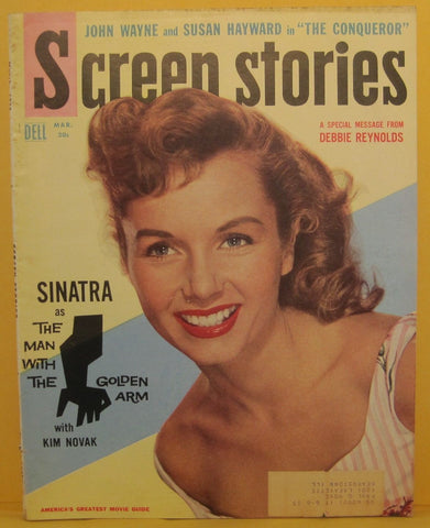 Screen Stories Magazine March 1956 Debbie Reynolds / Frank Sinatra