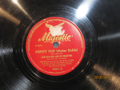 Slim Gaillard Orch. with Charlie Parker - Popity Pop (Motor Sickle) b/w Slim's Jam