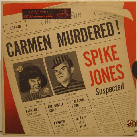 Spike Jones - Carmen Murdered Ep/ Carmen Part 1/ Carmen Part 2