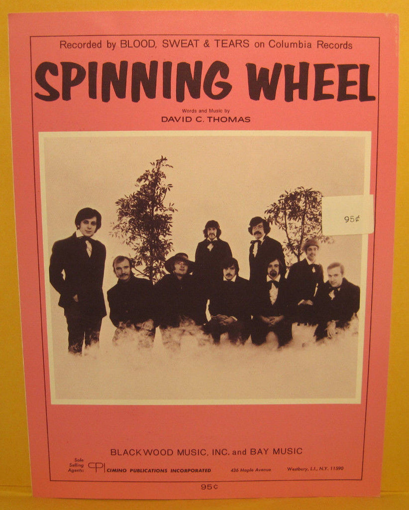 Spinning Wheel - 1968 Sheet Music - Blood, Sweat & Tears