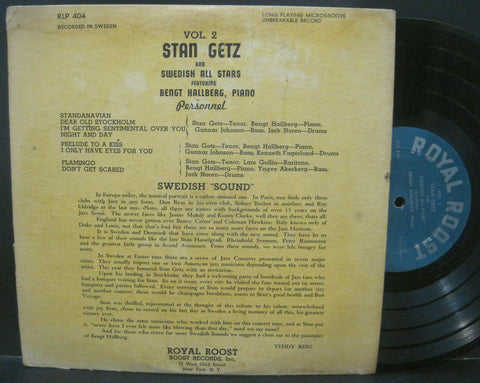 Stan Getz and The Swedish All Stars Volume 2 - 10""