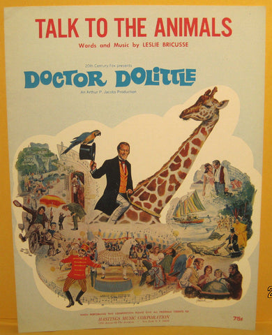 Talk to The Animals - 1967 Sheet Music from Doctor Dolittle