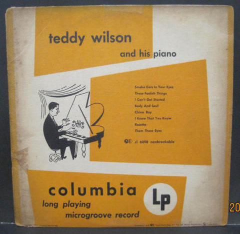 "Teddy Wilson and His Piano 10"" Lp"