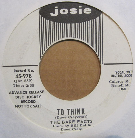 Bare Facts - To Think b/w The Only Thing  PROMO