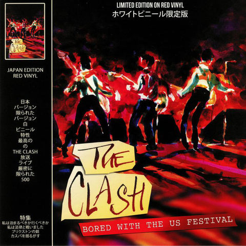 Clash - Bored With the US Festival Live 1983 on import red vinyl