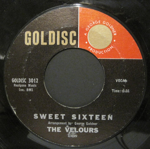 Velours - Sweet Sixteen b/w Daddy Warbucks