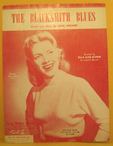 Blacksmith Blues -1950 Sheet Music - Ella Mae Morse