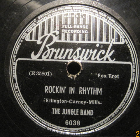 The Jungle Band ( Duke Ellington ) - Rockin' In Rhythm b/w Twelfth Street Rag