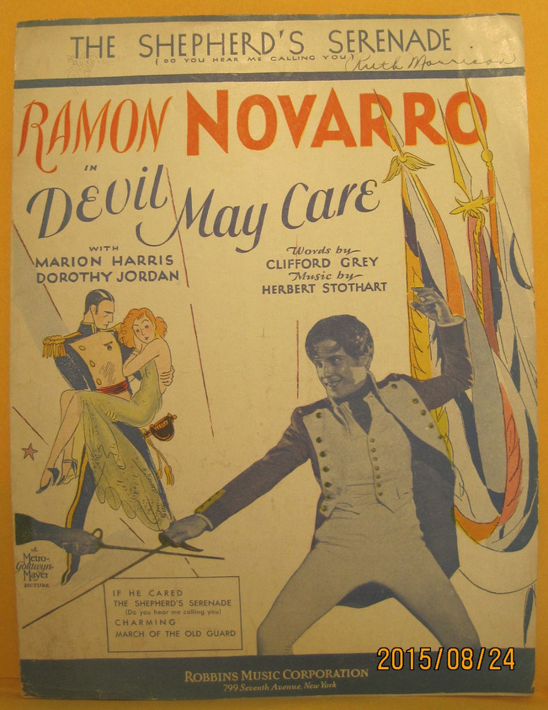 The Shepherd's Serenade - 1929 Sheet Music - Ramon Navarro