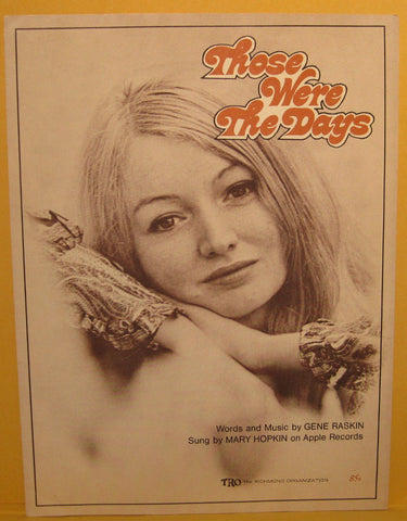 Those Were The Days - 1968 Sheet Music Mary Hopkin / Beatles