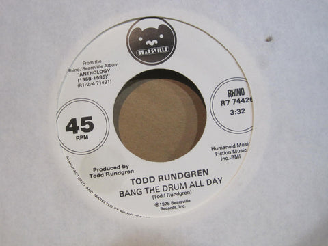 Todd Rundgren - Bang on The Drum All Day b/w Can We Still Be Friends