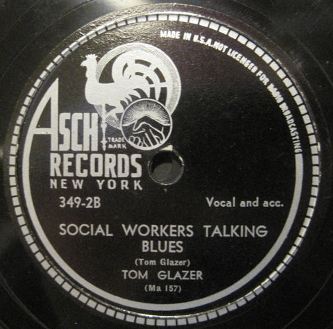 Tom Glazer - We've Got A Plan b/w Social Workers Talking Blues
