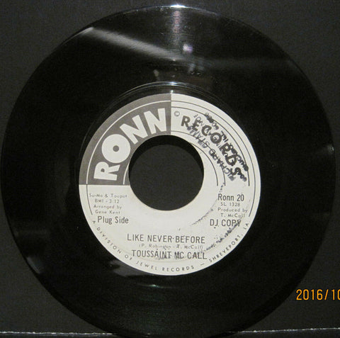 Toussaint McCall - Like Never Before b/w I'm Gonna Make Me A Woman  Promo