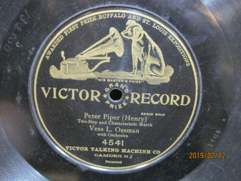 Vess L. Ossman - Peter Piper One-Sided Victor 78