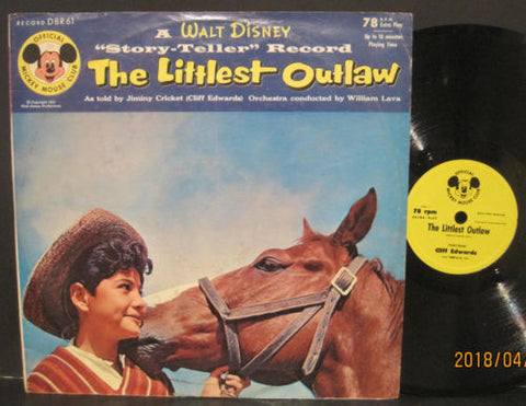 Walt Disney - The Littlest Outlaw with Jiminy Cricket / Cliff Edwards
