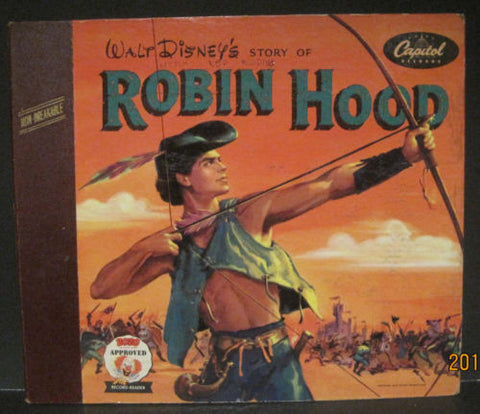 Walt Disney's Story of Robin Hood - Two 78rpm Record Album w/ Booklet