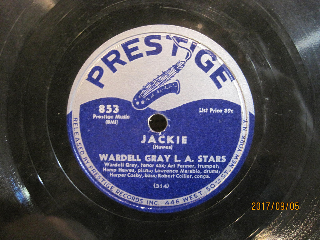 Wardell Gray L.A. Stars - Jackie b/w Sweet and Lovely