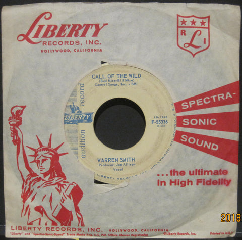 Warren Smith - Call of The Wild b/w Old Lonesome Feeling  PROMO
