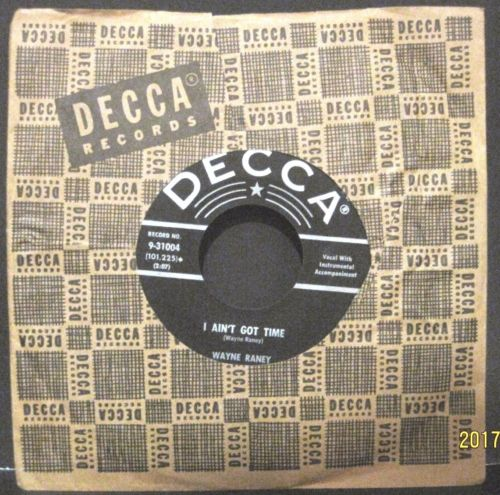 Wayne Raney - I Ain't Got Time b/w Four Aces and A Queen