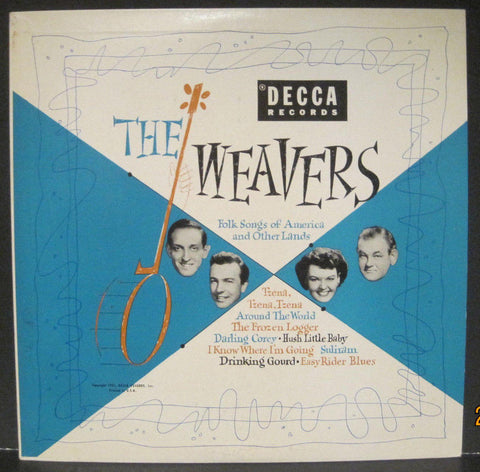 "Weavers - Folk Songs of America and Other Lands Decca 10"" Lp"