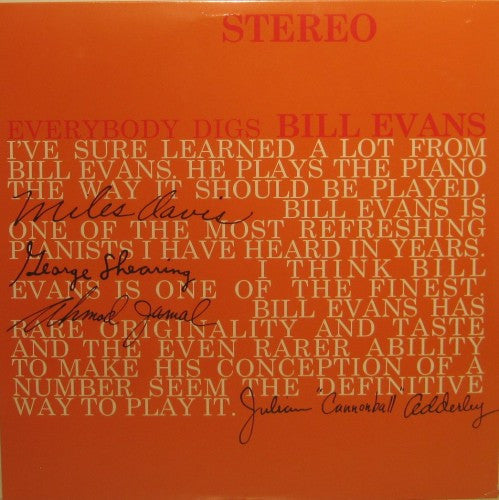 Bill Evans - Everybody Digs Bill Evans 180g