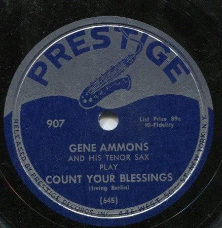 Gene Ammons - Count Your Blessings/ Cara Mia