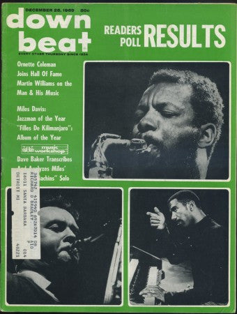 Down Beat - Dec 25, 1969/ Ornette Coleman - Readers Poll