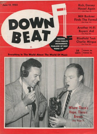 Down Beat - June 15, 1955/ Les Brown & Bob Hope
