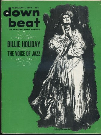 Down Beat - Feb 1, 1962 / Billie Holiday - The Voice of Jazz / David Stone Martin cover art