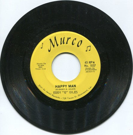 Eddy Giles - Music/ Happy Man