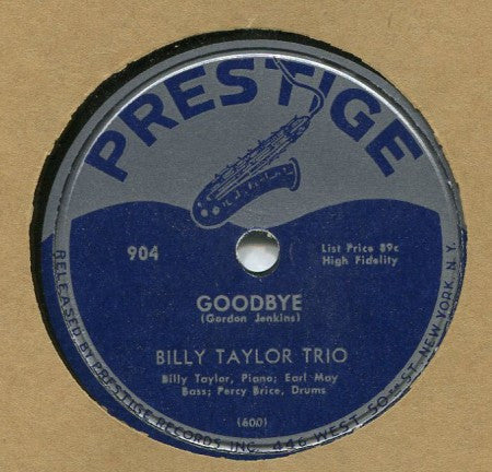 Billy Taylor - Goodbye / Eddie's Theme