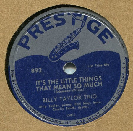 Billy Taylor - It's the Little Things / Nice Work if You Can Get It