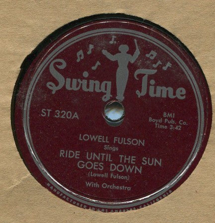 Lowell Fulson - Ride Until The Sun Goes Down/ Christmas Party Shuffle