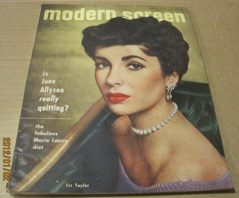 Modern Screen - 1952 w/ Liz Taylor